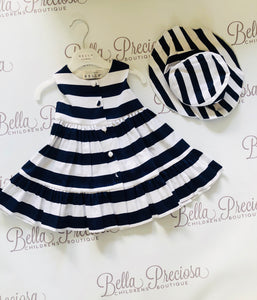 Stripe Dress & Hat