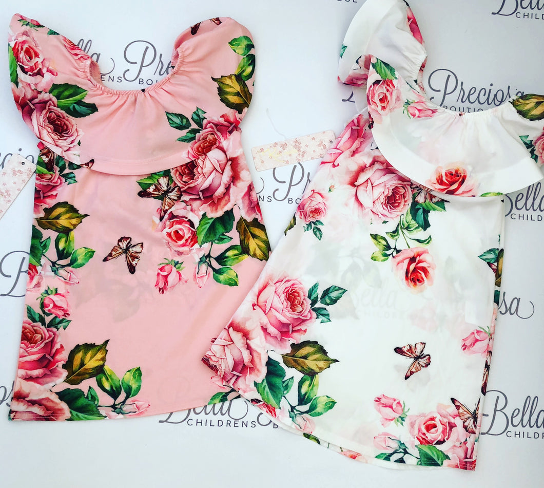 Baby Floral Shoulder Dress