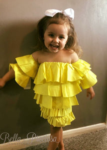 Baby Yellow Halle Frill Set
