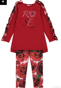 Red Rose Legging Set