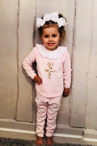 Ballerina Knitted Tracksuit With Frill Neck