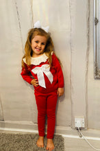 RED -Bow Frill Neck Tracksuit