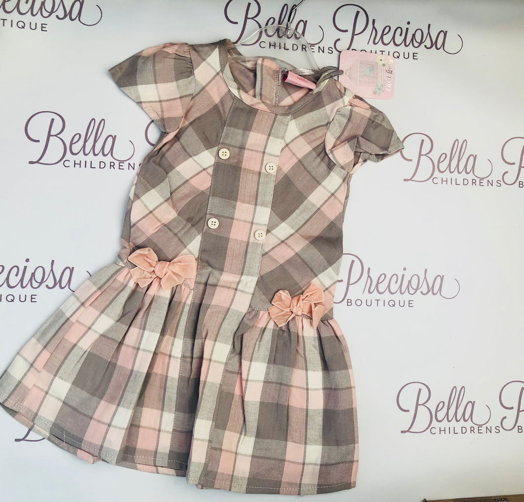 Pink and Grey Big Girl Dress