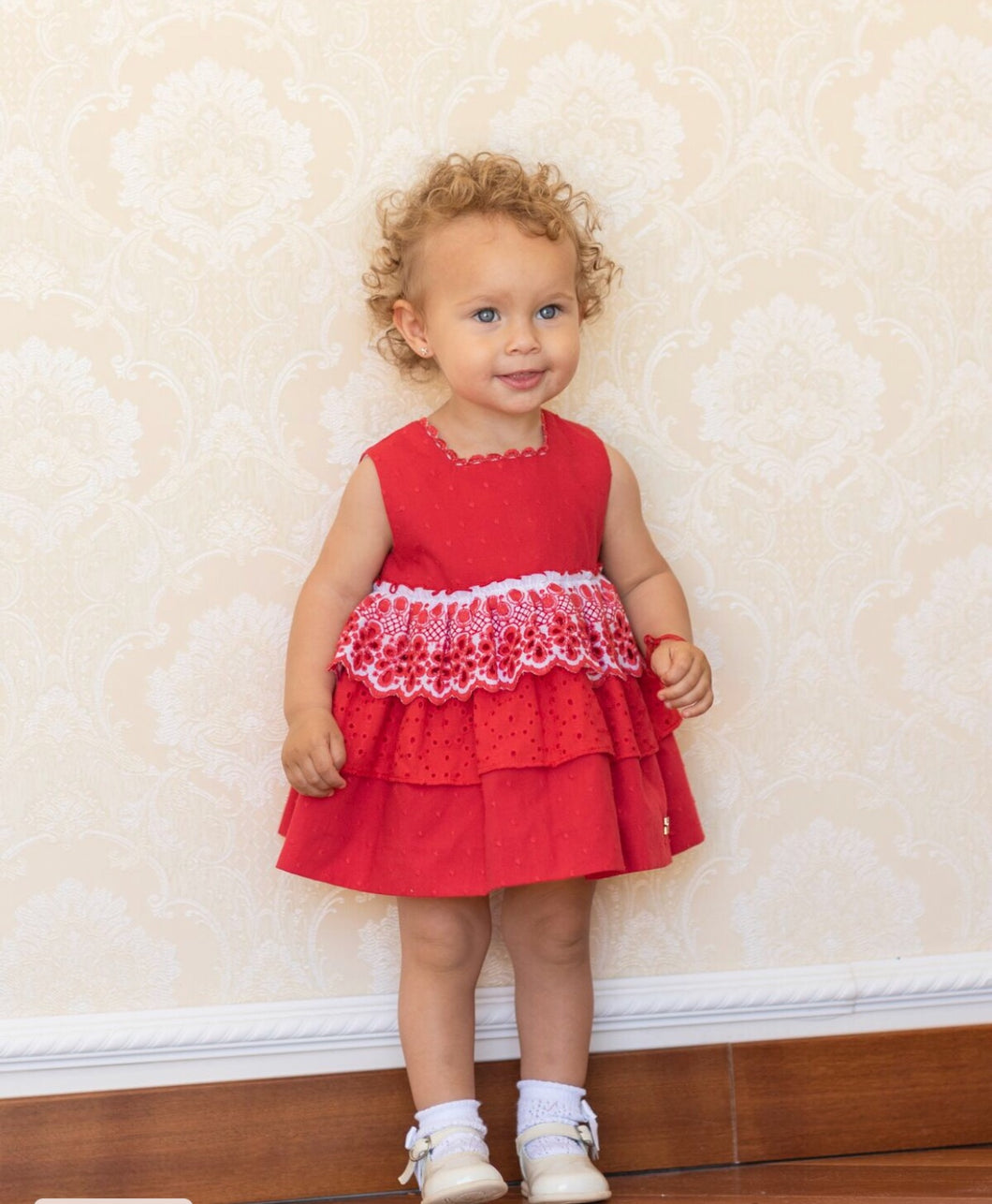 Dolce Petit Red Heart Baby Dress