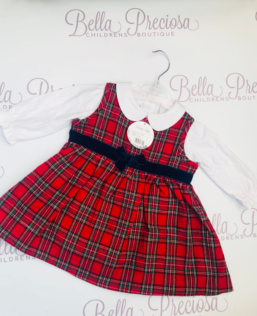 Tartan Baby Dress With Top