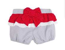 Red And White Bow Short Set