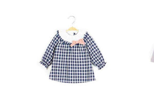 Baby Check Bow Dress