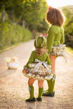 Ruffle Green Dress & Socks