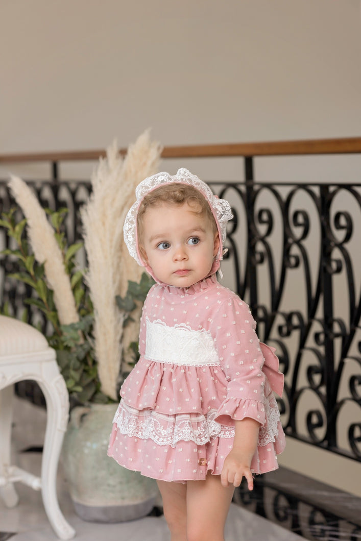 Dolce Petit Baby Pink Spot Dress