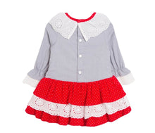 Baby Red & White Bow Dress