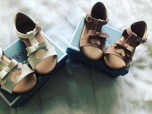 Bow Heart Sandals