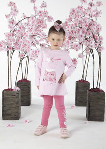 Adee Blossom Legging & Tunic Set With Back Detailing