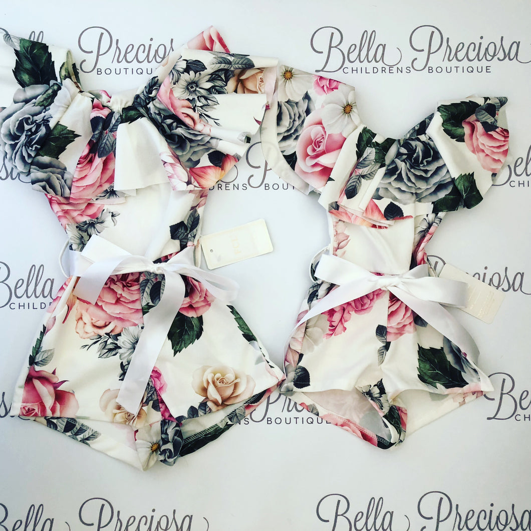 Big Girls Floral Playsuit