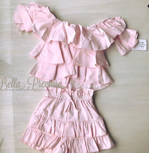 Baby Pink Halle Frill Set