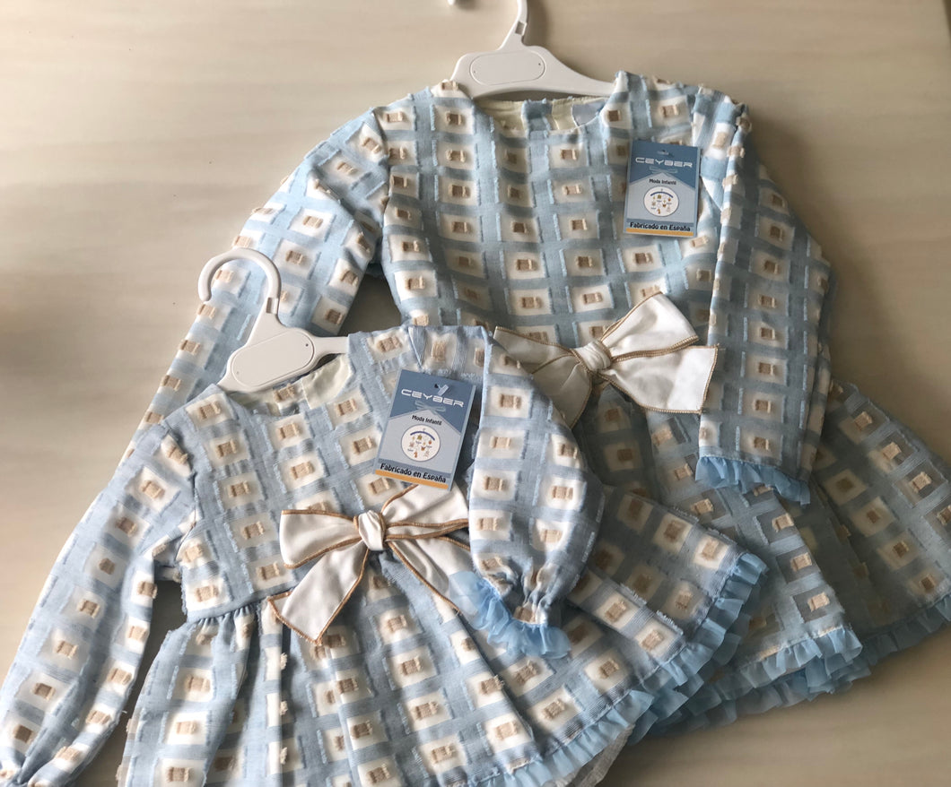 Big girl Blue check dress