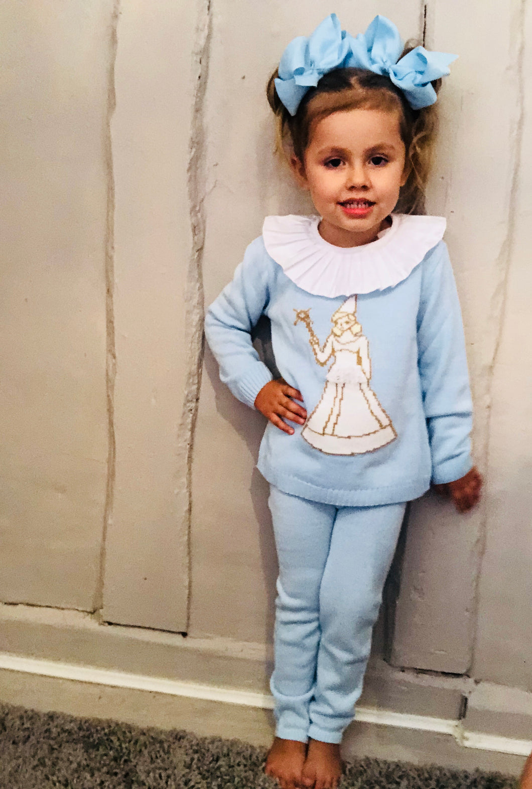 Frozen Knit Tracksuit With Collar