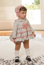 Dolce Petit Grey & Pink Dress ( no bonet)