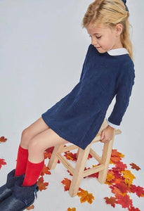 Jumper dress with bow marking