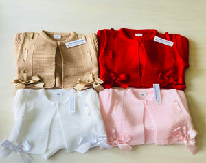 Pink Bow Cardigans