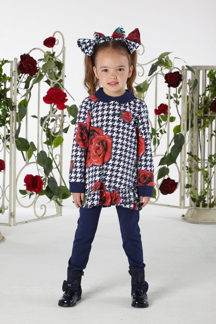 Adee Royal Rose Garden Tunic & Legging Set