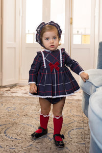 Dolce Petit Tartan Christmas Dress( no bonet)