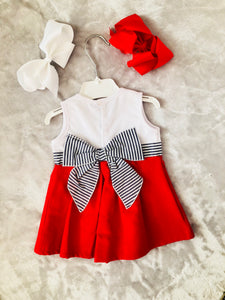 Calamaro Red Bow Dress