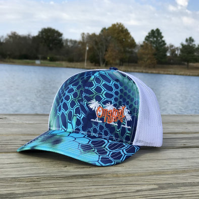 Original Hippie - Blue Ocean Kryptek Typhon Pontus and White Trucker Cap