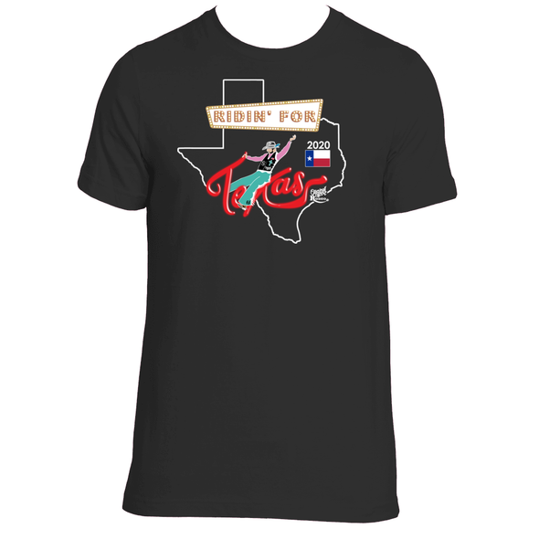 Original Hippie - Limited Edition - Ridin For Texas 2020 Rodeo Finals T-Shirt - Vintage Black