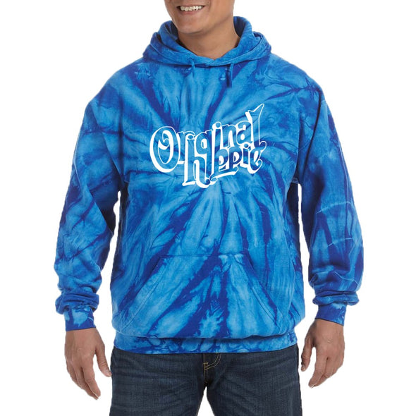 Original Hippie - Royal Blue Vibes Tie Dye Hoodie