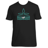 Original Hippie - Turquoise Boot Stitching Short Sleeve Unisex T-Shirt - Black