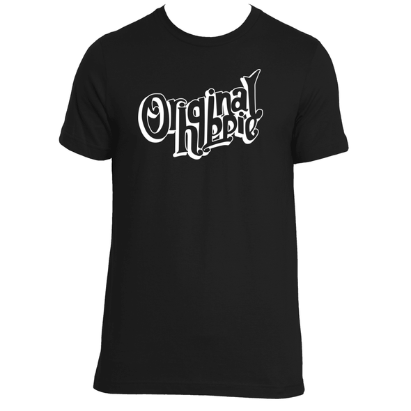 Original Hippie - Unisex Short Sleeve Transparent Name - Black