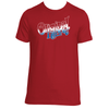 Original Hippie - American Red White and Blue Name - Short Sleeve T-Shirt -Red