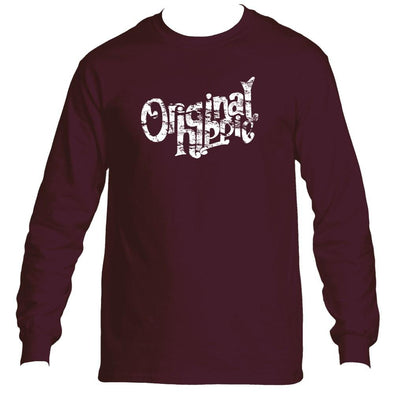 Original Hippie - Classic Long Sleeve Tee - Cardinal