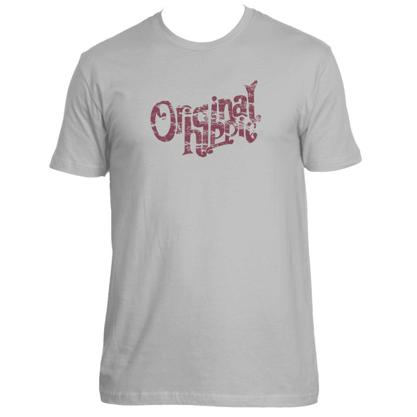 Original Hippie™ - Cotton T-Shirt - Light Grey - Maroon Name