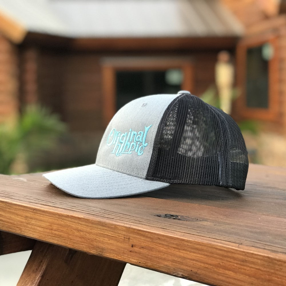 a70c314a67a41 Original Hippie™ Heather Grey and Dark Charcoal Low Pro Trucker Cap ...