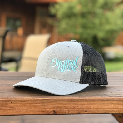 Original Hippie™ Heather Grey and Dark Charcoal LowPro Trucker Cap