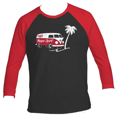 Original Hippie - Hippie Spirit Van - 3/4 Raglan Red Black