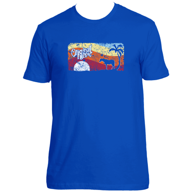 Original Hippie - Horse Sunset Unisex Short Sleeve T-Shirt  - Royal Blue