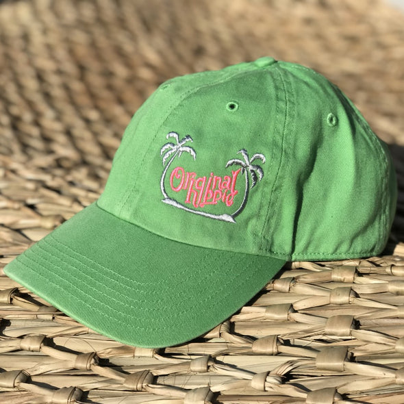 Original Hippie™ - Washed Chino Cap - Lime Green
