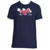Original Hippie - Palm Tree Name - Navy Blue Short Sleeve T-Shirt