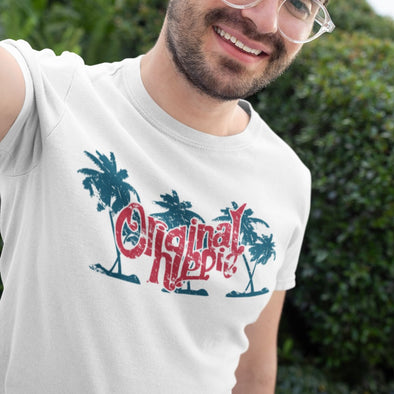 Original Hippie - Palm Tree Name - White Short Sleeve Unisex T-Shirt