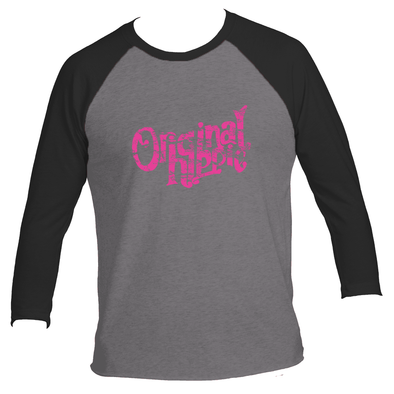 Original Hippie™ Classic Women's Black with Hot Pink 3/4 Raglan
