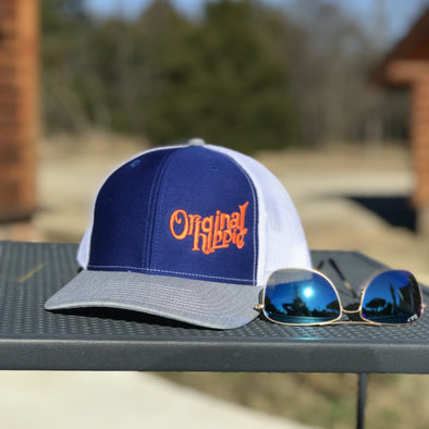 Original Hippie - Royal Blue - White - Heather Grey Trucker Cap