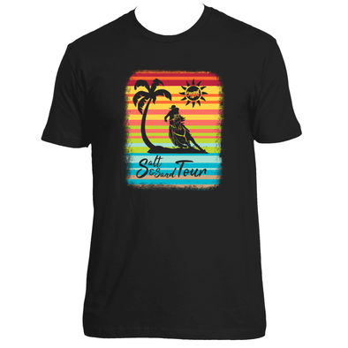 Original Hippie - Serape Palm Tree Barrel Racer Women's Short Sleeve T-Shirt Black