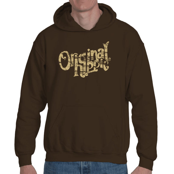 Original Hippie - Sweatshirt Hoodie Unisex - Cocoa Dark Brown