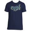 Original Hippie - Vintage - Navy Blue - Short Sleeve T-Shirt