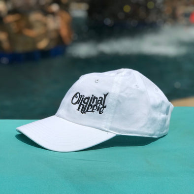 Original Hippie - White Garment Washed Chino Cap