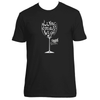 Original Hippie® - Wine Down and Let Go Short Sleeve T-Shirt - Black