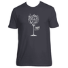 Original Hippie® - Wine Down and Let Go Short Sleeve T-Shirt - Heavy Metal