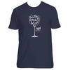 Original Hippie® - Wine Down and Let Go Short Sleeve T-Shirt - Indigo
